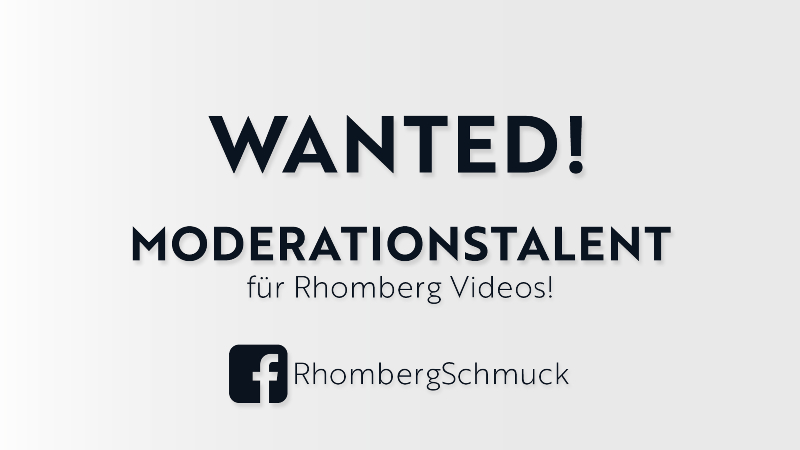 MODERATIONS-TALENT für Rhomberg Videos gesucht