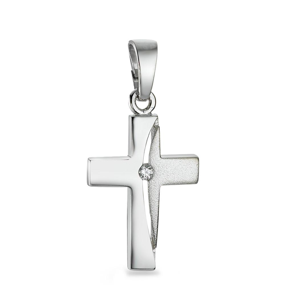 Anh�nger Zirkonia Kreuz