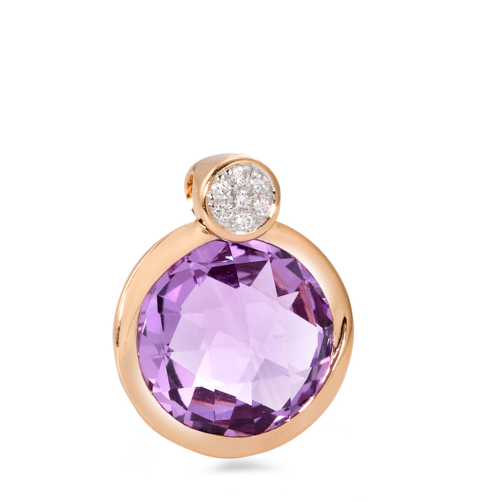 Anh�nger Amethyst 8, 0.035ct w-si, Amethyst