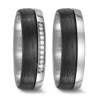 Partnerring Titan, Carbon Diamant 0.11 ct